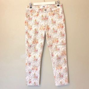 Paige Keighly Skyline Ankle Peg Floral Print Jeans